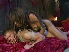 Guy tied up by a shemale and gets fucked hard Tranny One Shemale Domination Videos Dominant Transexuals